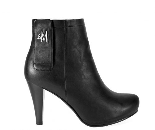 black tapered heel boots from Llynda More