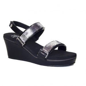 "2.5"" black wedge sandals"