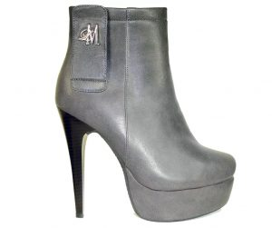 grey stiletto heel boots made with vegan leather