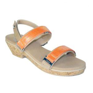 """1.5"""" nude tapered heel sandals"""
