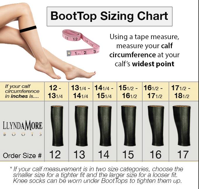 boot sizing chart